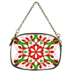 Red And Green Snowflake Chain Purses (one Side)