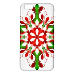 Red And Green Snowflake Iphone 6 Plus/6s Plus Tpu Case by Nexatart