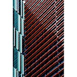 Red And Black High Rise Building 5.5  x 8.5  Notebooks Back Cover