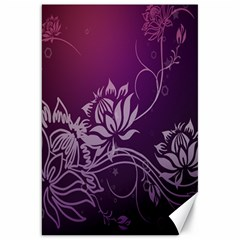 Purple Lotus Canvas 20  X 30   by Nexatart