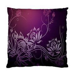 Purple Lotus Standard Cushion Case (one Side) by Nexatart