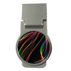 Rainbow Ribbons Money Clips (round)  by Nexatart