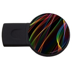 Rainbow Ribbons Usb Flash Drive Round (4 Gb) by Nexatart