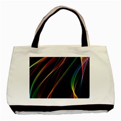 Rainbow Ribbons Basic Tote Bag (two Sides) by Nexatart