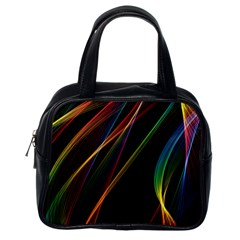 Rainbow Ribbons Classic Handbags (one Side) by Nexatart