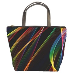 Rainbow Ribbons Bucket Bags by Nexatart