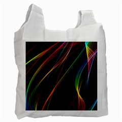 Rainbow Ribbons Recycle Bag (one Side) by Nexatart