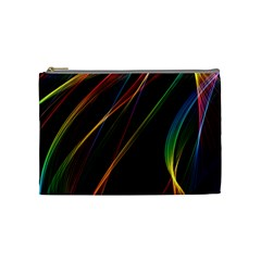 Rainbow Ribbons Cosmetic Bag (medium)  by Nexatart