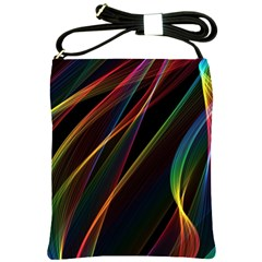 Rainbow Ribbons Shoulder Sling Bags by Nexatart