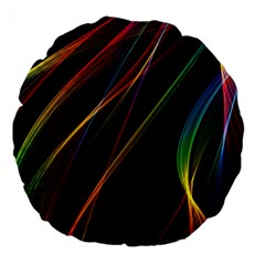 Rainbow Ribbons Large 18  Premium Round Cushions by Nexatart