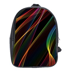 Rainbow Ribbons School Bags (xl)  by Nexatart