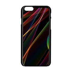Rainbow Ribbons Apple Iphone 6/6s Black Enamel Case by Nexatart
