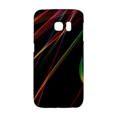 Rainbow Ribbons Galaxy S6 Edge by Nexatart