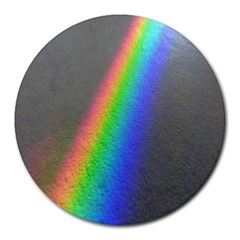 Rainbow Color Spectrum Solar Mirror Round Mousepads by Nexatart
