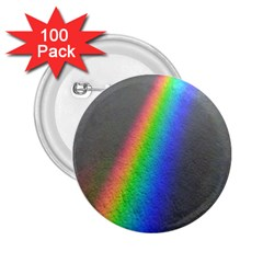 Rainbow Color Spectrum Solar Mirror 2 25  Buttons (100 Pack)