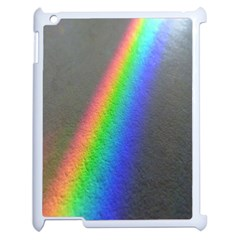 Rainbow Color Spectrum Solar Mirror Apple Ipad 2 Case (white) by Nexatart
