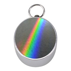 Rainbow Color Spectrum Solar Mirror Mini Silver Compasses