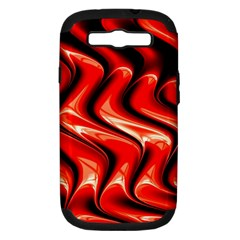 Red Fractal  Mathematics Abstact Samsung Galaxy S Iii Hardshell Case (pc+silicone) by Nexatart