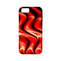 Red Fractal  Mathematics Abstact Apple Iphone 5 Classic Hardshell Case (pc+silicone)