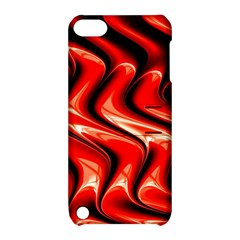 Red Fractal  Mathematics Abstact Apple Ipod Touch 5 Hardshell Case With Stand