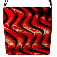 Red Fractal  Mathematics Abstact Flap Messenger Bag (s) by Nexatart