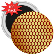 Red And Gold Effect Backing Paper 3  Magnets (100 Pack)