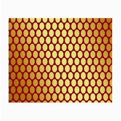 Red And Gold Effect Backing Paper Small Glasses Cloth (2 Side)