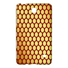 Red And Gold Effect Backing Paper Samsung Galaxy Tab 4 (8 ) Hardshell Case  by Nexatart