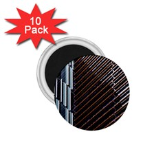 Red And Black High Rise Building 1 75  Magnets (10 Pack)
