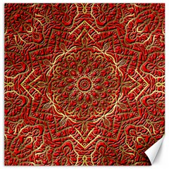 Red Tile Background Image Pattern Canvas 12  X 12
