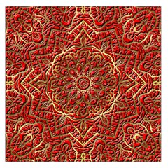 Red Tile Background Image Pattern Large Satin Scarf (square) by Nexatart