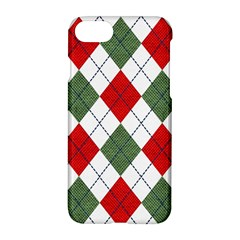 Red Green White Argyle Navy Apple Iphone 7 Hardshell Case