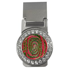 Red Green Swirl Twirl Colorful Money Clips (cz)  by Nexatart