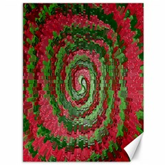 Red Green Swirl Twirl Colorful Canvas 36  X 48   by Nexatart