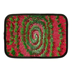 Red Green Swirl Twirl Colorful Netbook Case (medium)  by Nexatart