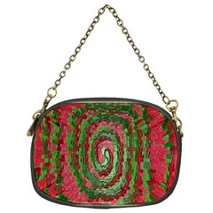 Red Green Swirl Twirl Colorful Chain Purses (one Side)