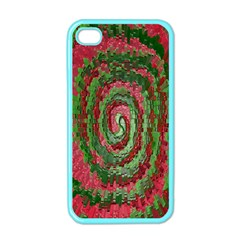 Red Green Swirl Twirl Colorful Apple Iphone 4 Case (color) by Nexatart