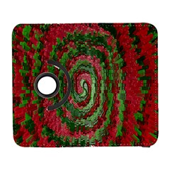 Red Green Swirl Twirl Colorful Galaxy S3 (flip/folio) by Nexatart