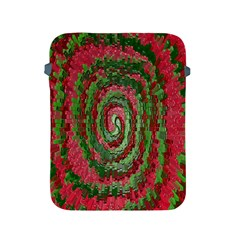 Red Green Swirl Twirl Colorful Apple Ipad 2/3/4 Protective Soft Cases by Nexatart