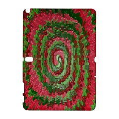 Red Green Swirl Twirl Colorful Galaxy Note 1 by Nexatart
