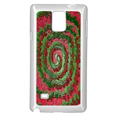 Red Green Swirl Twirl Colorful Samsung Galaxy Note 4 Case (white) by Nexatart