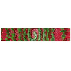 Red Green Swirl Twirl Colorful Flano Scarf (large) by Nexatart