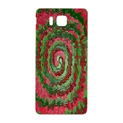 Red Green Swirl Twirl Colorful Samsung Galaxy Alpha Hardshell Back Case by Nexatart
