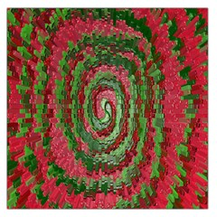 Red Green Swirl Twirl Colorful Large Satin Scarf (square) by Nexatart