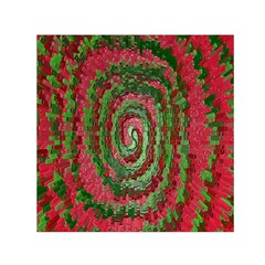 Red Green Swirl Twirl Colorful Small Satin Scarf (square) by Nexatart
