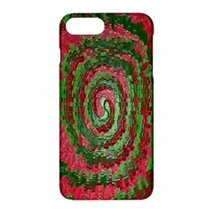 Red Green Swirl Twirl Colorful Apple Iphone 7 Plus Hardshell Case