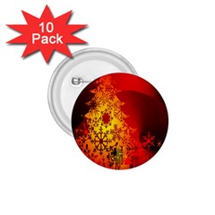 Red Silhouette Star 1 75  Buttons (10 Pack) by Nexatart