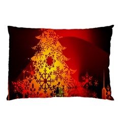 Red Silhouette Star Pillow Case (two Sides)