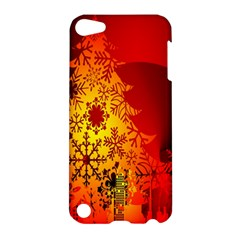 Red Silhouette Star Apple Ipod Touch 5 Hardshell Case