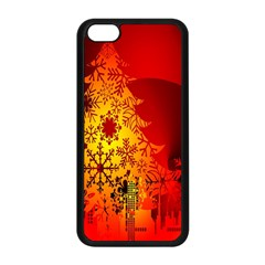 Red Silhouette Star Apple Iphone 5c Seamless Case (black)